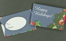 Holiday Gift Card Sleeves - Blue Happy Holidays - 100 count