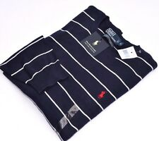 NWT POLO RALPH LAUREN Men BUSINESS SWEATER PULLOVER JUMPER NAVY STRIPED XL Gift