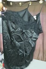WOMENS AMOUREUSE BLACK SHEER LACE FRONT SPAGHETTI STRAP TEDDY BABY DOLL SIZE 4X