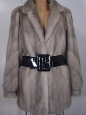 Gorgeous Fine Quality Grey Mink Fur Jacket Coat Size 8-10 Excell Cond FREE SHIP