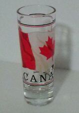 Canada flag maple leaf red white black souvenir tall shot glass