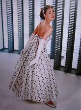 AUDREY HEPBURN sexy clipping Funny Face color photo 1957 elegant polka-dot gown