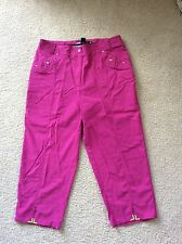 Jamie Sadock Golf Crop Capri pants  Sz 10 Pink Magnets Nylon Rayon Spandex GUC