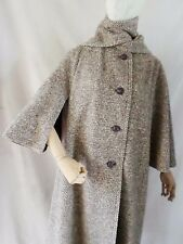 UNION MADE true vintage 60s brown wool Inverness cape coat LARGE