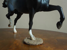 Custom Sand-Covered Model Horse Stand/Base for Breyer Huckleberry/Huck Bey