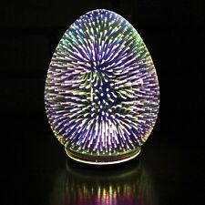Accent Light - Mercury Glass Oval Egg Shaped Starburst LED Table Lamp