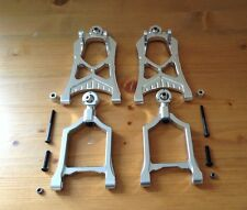 HPI BAJA ALLOY FRONT SUSPENSION ARMS IN (SILVER) FOR HPI BAJA 5B,5T,5SC,KM,ROVAN