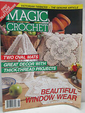 Magic Crochet Magazine June 1992 Patterns Victorian Tiebacks Thick Thread