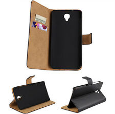 Genuine Leather Stand Case Flip Cover Skin For Alcatel One Touch Idol 2 OT-6037K