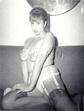 Original Vintage 40s-60s Nude RP- Super Endowed Woman- Garter- Stocking- Panties