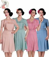 HELL BUNNY clearance 40s JENNIFER WW2 wartime POLKA DOT tea DRESS