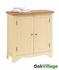 Dorchester Oak Cream Painted 2 Door Linen Cupboard / Storage Cabinet / Brand New