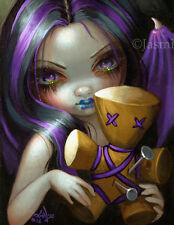 Jasmine Becket-Griffith art print doll gothic occult SIGNED Voodoo in Violet