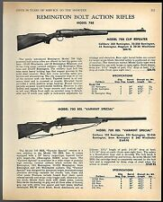 1968 REMINGTON Model 788 Clip Repeater, 700 BDL Varmint Bolt-Action Rifle AD