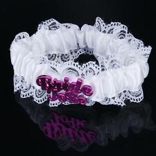 Trendy New Bride To Be Hen Night Party White Lace Garter Bride To Be Hot Gift