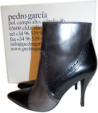 $650 PEDRO GARCIA Ankle Boot Harriet' Brogue Pointy Toe Booties 6 -36.5
