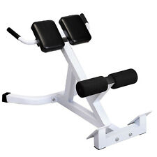 Goplus Extension Hyperextension Back Exercise AB Bench Gym Abdominal Roman Chair