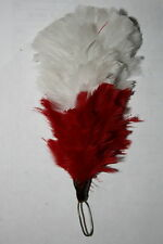 BRITISH ARMY WHITE OVER RED FUSILIERS FEATHER HACKLE