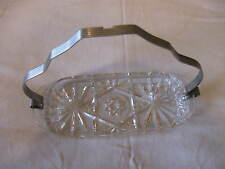 Vintage Cut Glass Candy Nut Trinket Butter Dish CL20-6