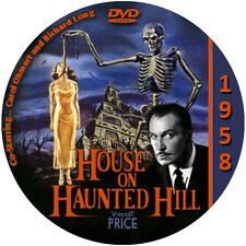 """House on Haunted Hill (1958) Sci-Fi and Horror NR CULT """"B"""" Movie DVD"""