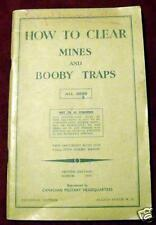 "WW2 CANADIAN BOOKLET, ""HOW TO CLEAR MINES AND BOOBY TRAPS"""