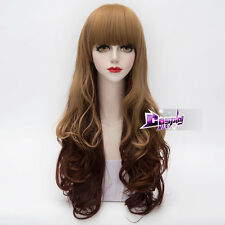 Women Mixed Brown Curly Hair for Dragon X Tiger/ Aisaka Taiga Anime Cosplay Wig