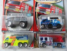 MATCHBOX FIRE AIRPORT PUMPER,  POLICE ARMORED TRUCK & OTHER MODELS SET OF 4 # 38