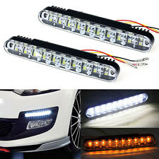 2x 12V 30 LED Car Daytime Running Light DRL Daylight Lamp with Turn Lights