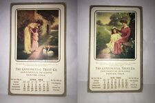 Colo,Denver 2 Card Lot -The Continental Trust Co.Calender divided posted 1911