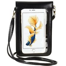Black Daisy Flower Mobile Phone Pouch Cross-body Shoulder Bag For iPhone 6s Plus