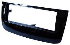 Adaptateur Autoradio Façade Cadre Réducteur noir brillant pour Fiat Punto / EVO