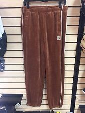Fila Men's Velour Brown and White Small Pants