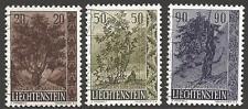 LIECHTENSTEIN SG369/71 1958 TREES FINE USED