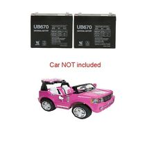 2 Replacement Batteries for 12V Hello Kitty SUV Ride On Toy    Battery Pair Set