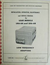 Lear LRA-6A-B Low Frequency Adapter  Original Install/ Ops/Maint/ Service Manual