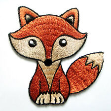 Cute Fox Cartoon For Kids Children Embroidered Iron on Patch Free Postage