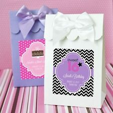 96 Personalized Sweet 16 Quinceanera Party Favor Bags Candy Buffet Boxes Q11575