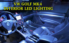 VW GOLF MK4 UPGRADE WHITE LED Interior BULBS FULL 13 PCS Light Kit Set