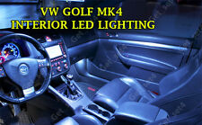 VW GOLF MK4 UPGRADE WHITE LED Interior BULBS FULL 15 PCS Light Kit Set