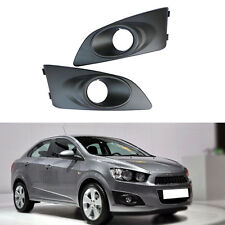 for Chevrolet Aveo/Sonic 2011-2014 Front Left+Right Fog Light Black Cover 1 Pair