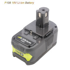 18V 4Ah Li-ion Battery For Ryobi P108 RB18L40 BID-1801M BID-180L BIW180 BID1821
