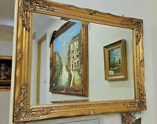 Specchio bisellato molato specchiera barocco cornice francesina , foglia oro
