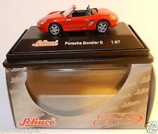 MICRO METAL DIE CAST SCHUCO HO 1/87 PORSCHE BOXSTER S ROUGE IN BOX