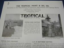 Tropical Paint & Oil Co. Asbestos Boiler Seal & Roofkoter 40's Catalog