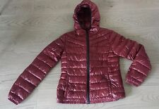 """Authentic Clothing Company"" Burgundy Down Puffer Jacket w/ Hood; Sz S; NWOT"