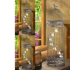 "3 Birdcage Lantern Extra Large Candle Holder Wedding Centerpieces 28"" Tall"