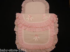 Beautiful Pram Quilt and Pillow  Set suitable for MOST PRAMS COLOUR  PINK