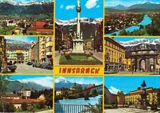 Austria Postcard Innsbruck Cable Railway, Golden Roof & More 8 Photos 1970s