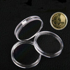 10pcs 25mm Applied Clear Round Cases Coin Storage Capsules Holder Plastic TOCA