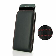 For Samsung Galaxy S7 Edge PDair Leather Vertical Pouch Case Black, Red